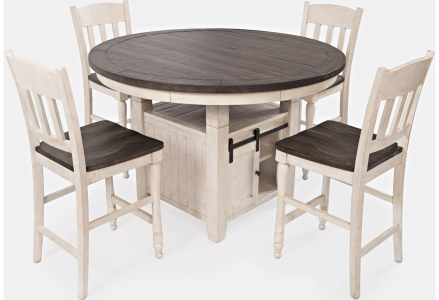 Jofran Madison County High Low Round Dining Table Zak S Home Dining Tables