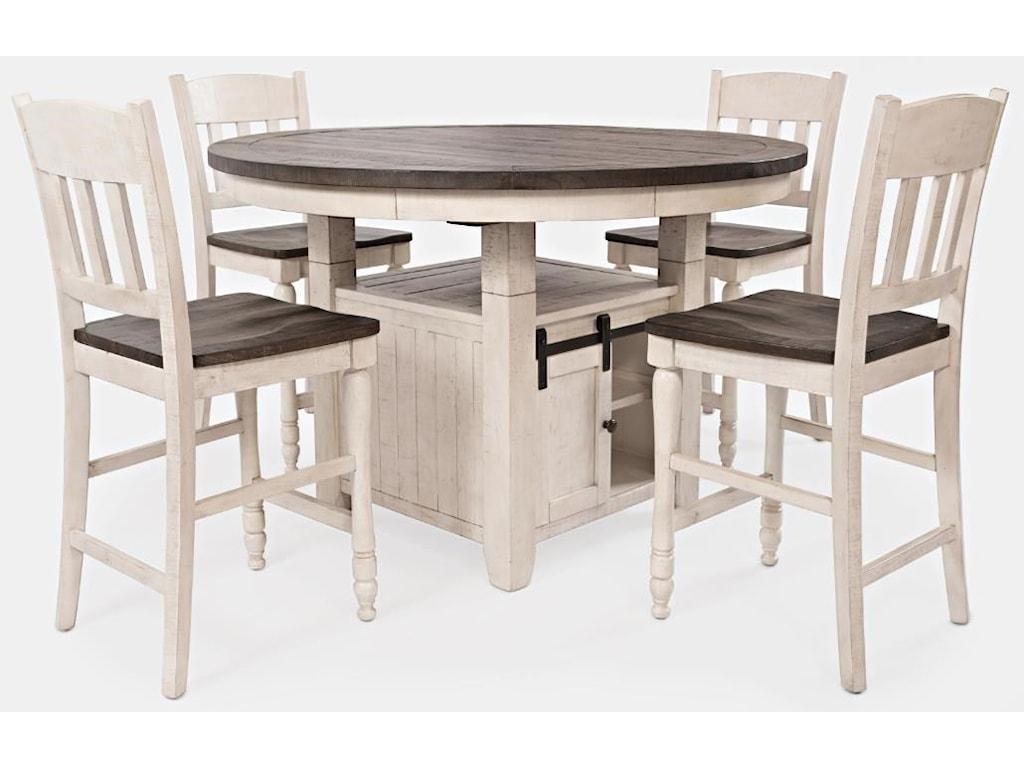 Jofran Madison CountyPub Table & 4 Barstools