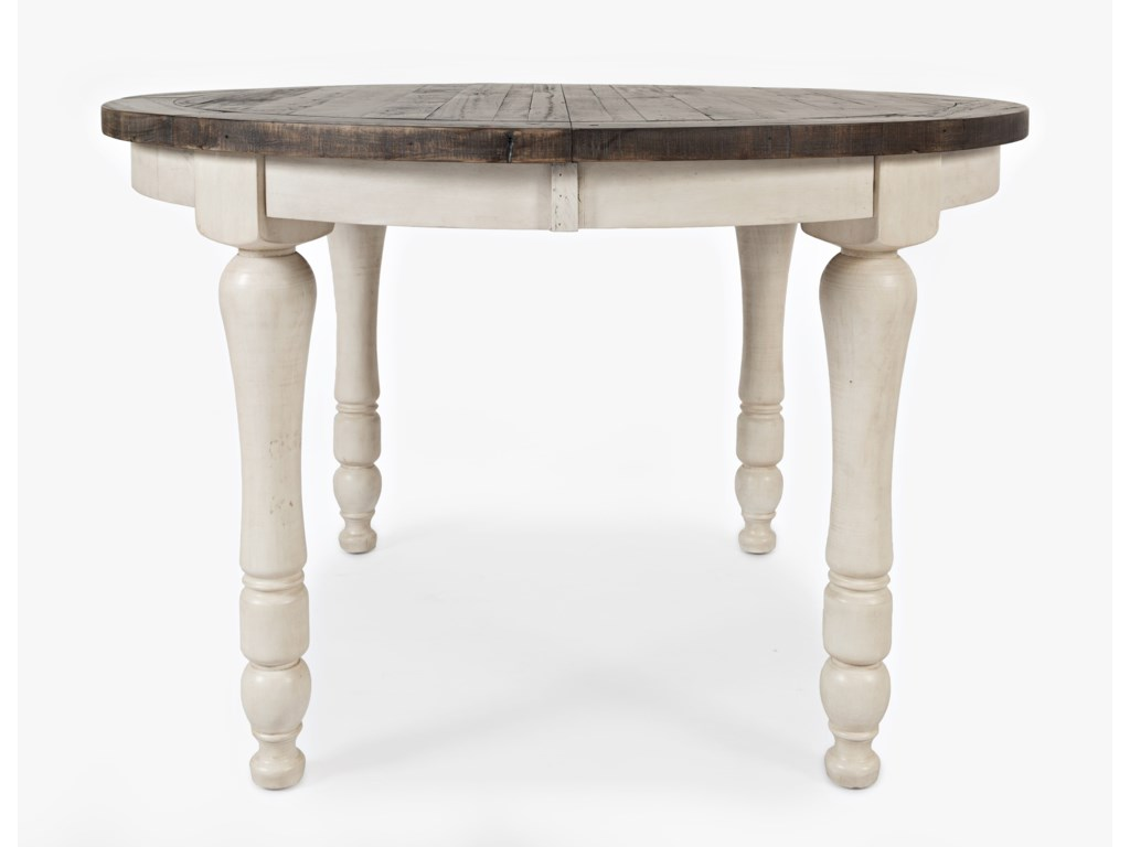 Jofran Madison CountyDining Table ... - Jofran Madison County 1706-66 Round To Oval Dining Table Gill