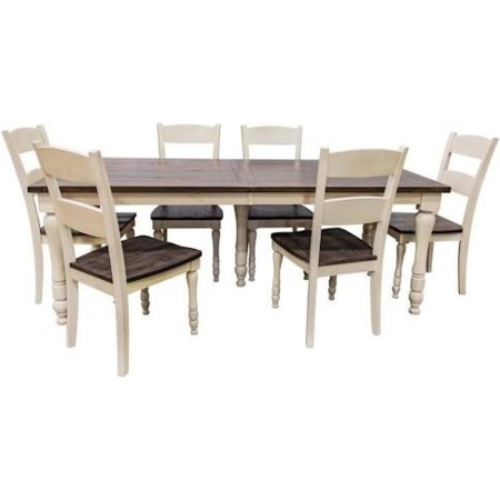 Rectangular Table and FOUR Chairs