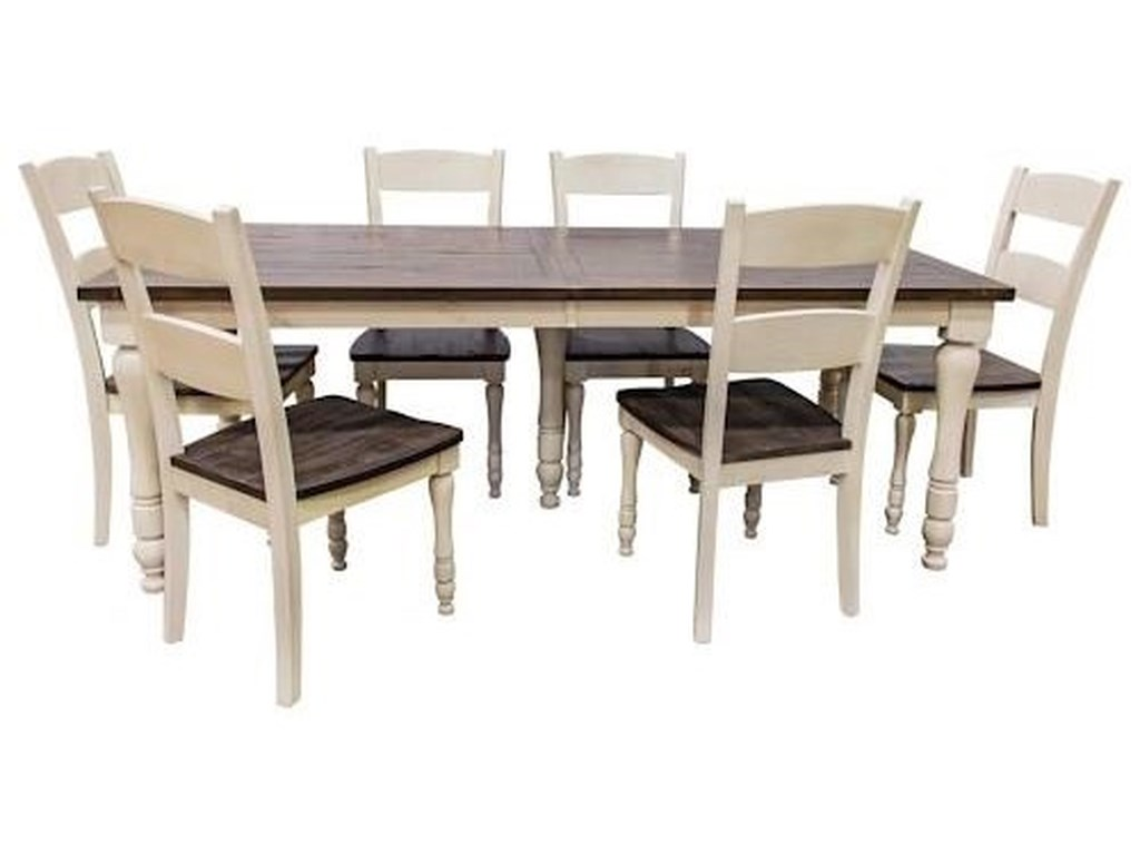 Jofran Madison County 1706 Rectangular Table And Four Chairs