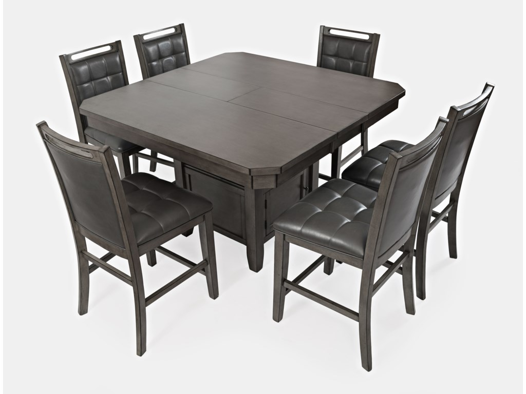 Jofran Manchester7 Piece Pub Table and Chair Set