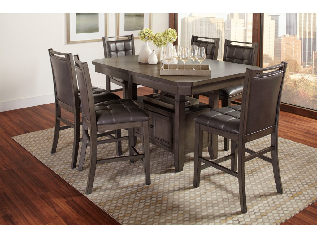 Jofran manchester 7 piece pub table and chair set dunk bright manchester 7 piece pub table and chair set by jofran watchthetrailerfo