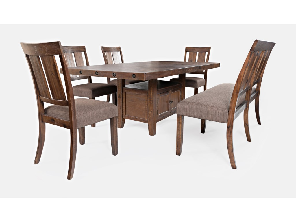 Jofran Mission ViejoTable and Chair Set with Bench