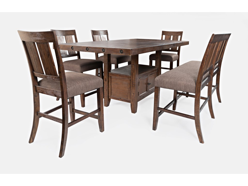 Jofran Mission ViejoCounter Height Table and Chair Set