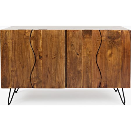 Sideboard with 4 Live Edge Doors