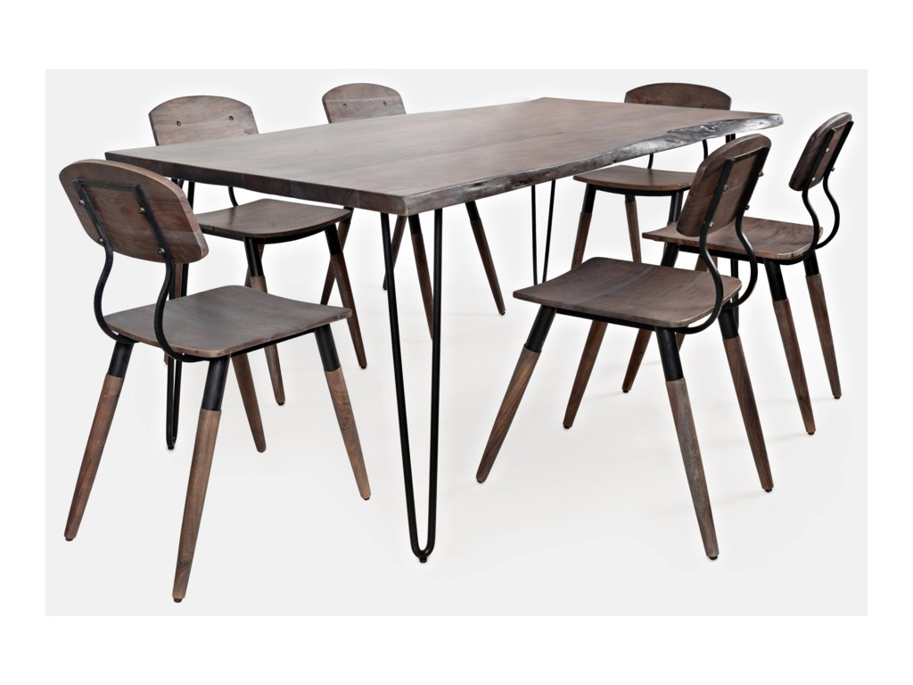 Jofran Nature's Edge7-Piece Table and Chair Set