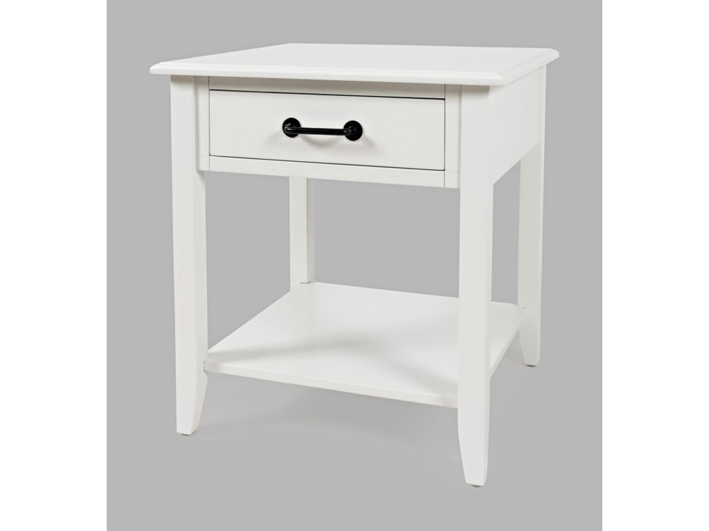 Jofran North ForkEnd Table with Drawer