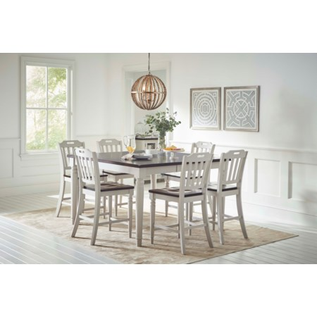 Counter Height Dining Table with 8 Chairs