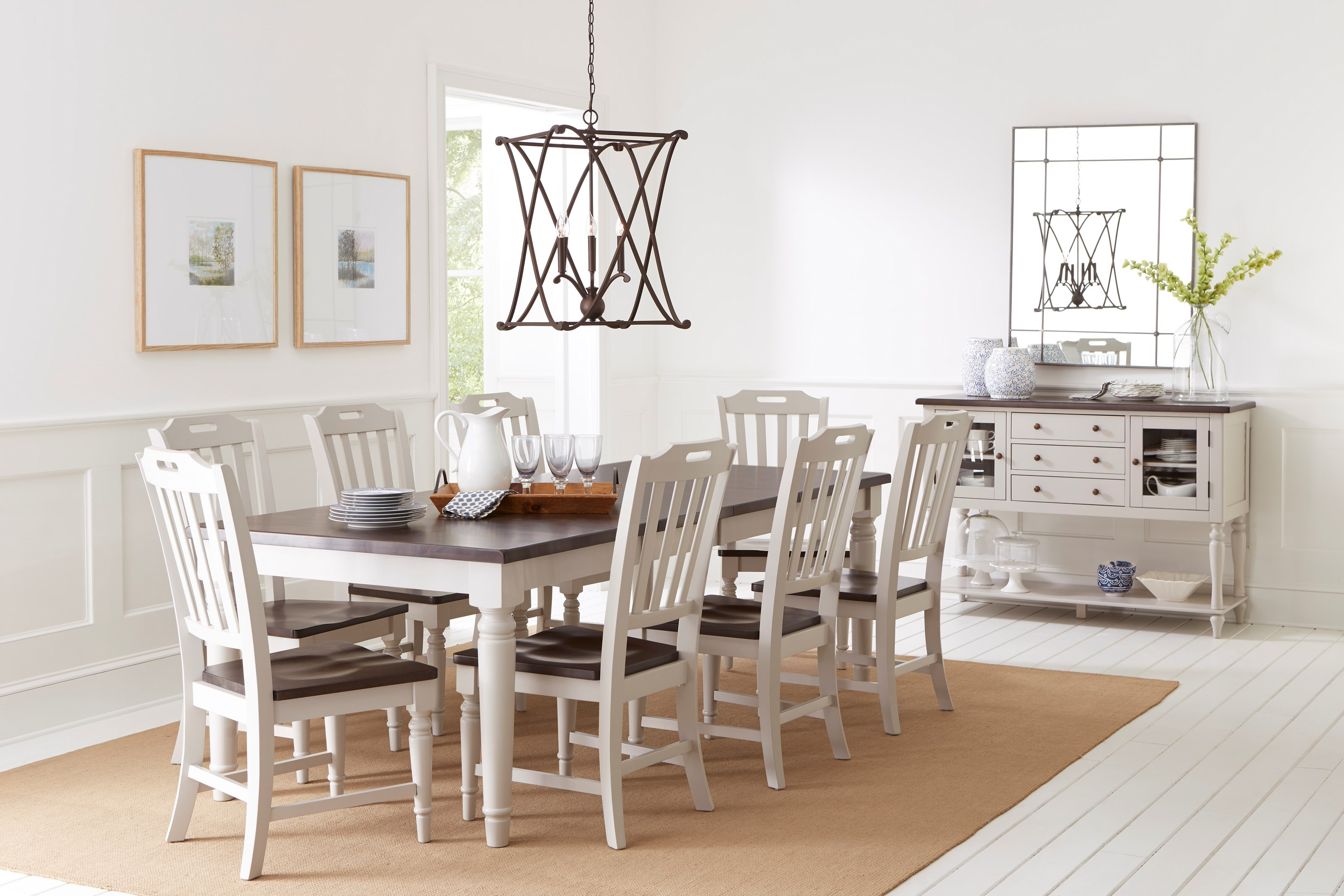 Beau Jofran Orchard Park Dining Table With 8 Chairs
