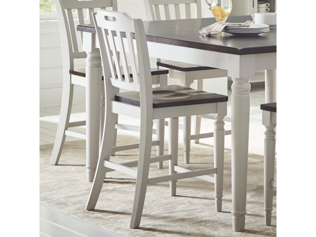 Jofran orchard parkslatback counter height stool