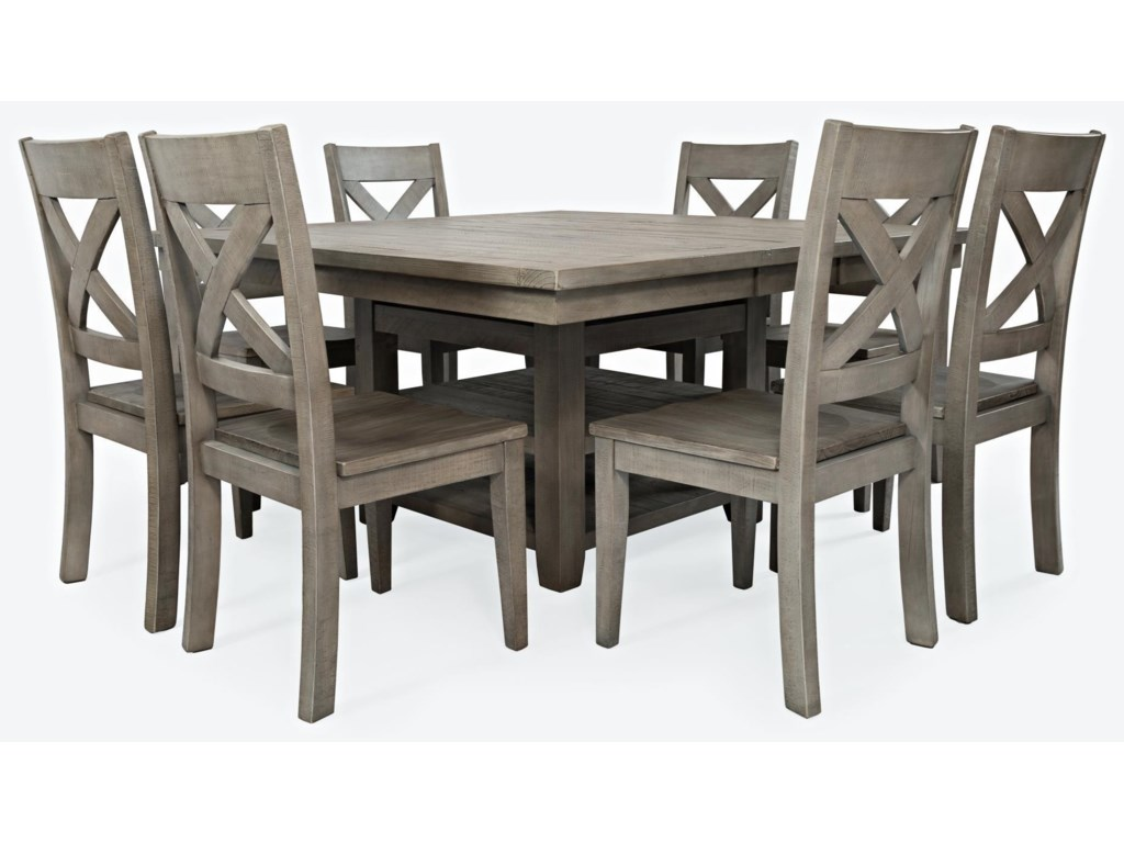 Jofran Outer BanksHi/Low Storage Dining Table with 6 Stools