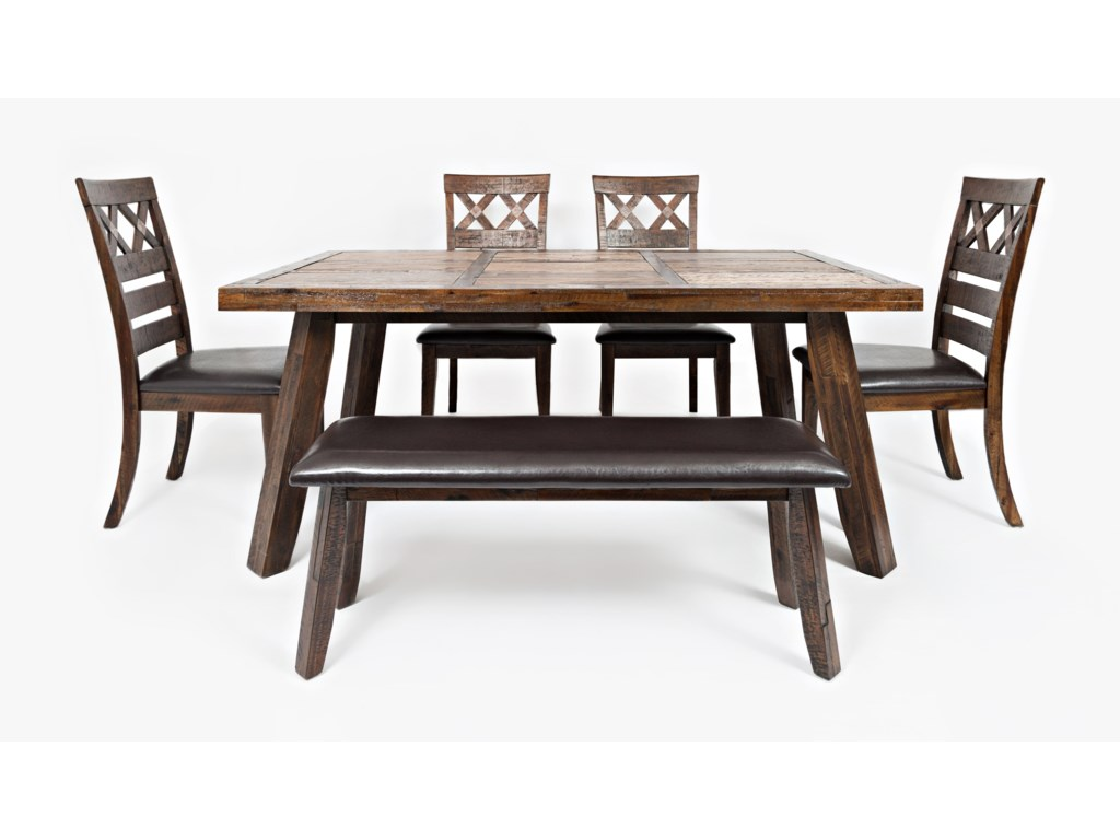 Painted Canyon 6 Piece Dining Set by Jofran at HomeWorld Furniture