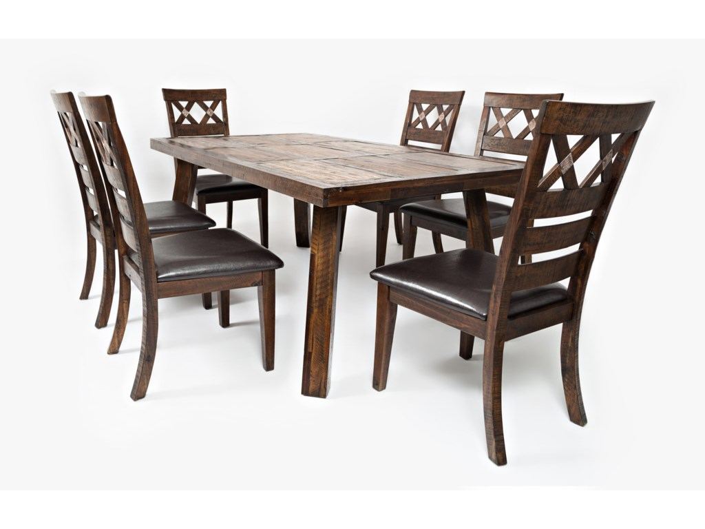 Painted Canyon Table With Six Chairs By Jofran