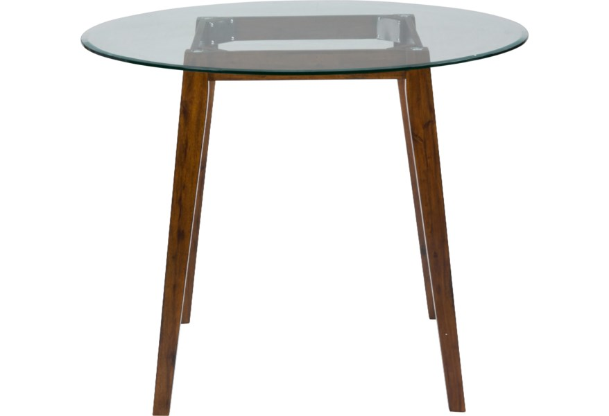 Jofran Plantation 48 Round Counter Height Table With Glass Top