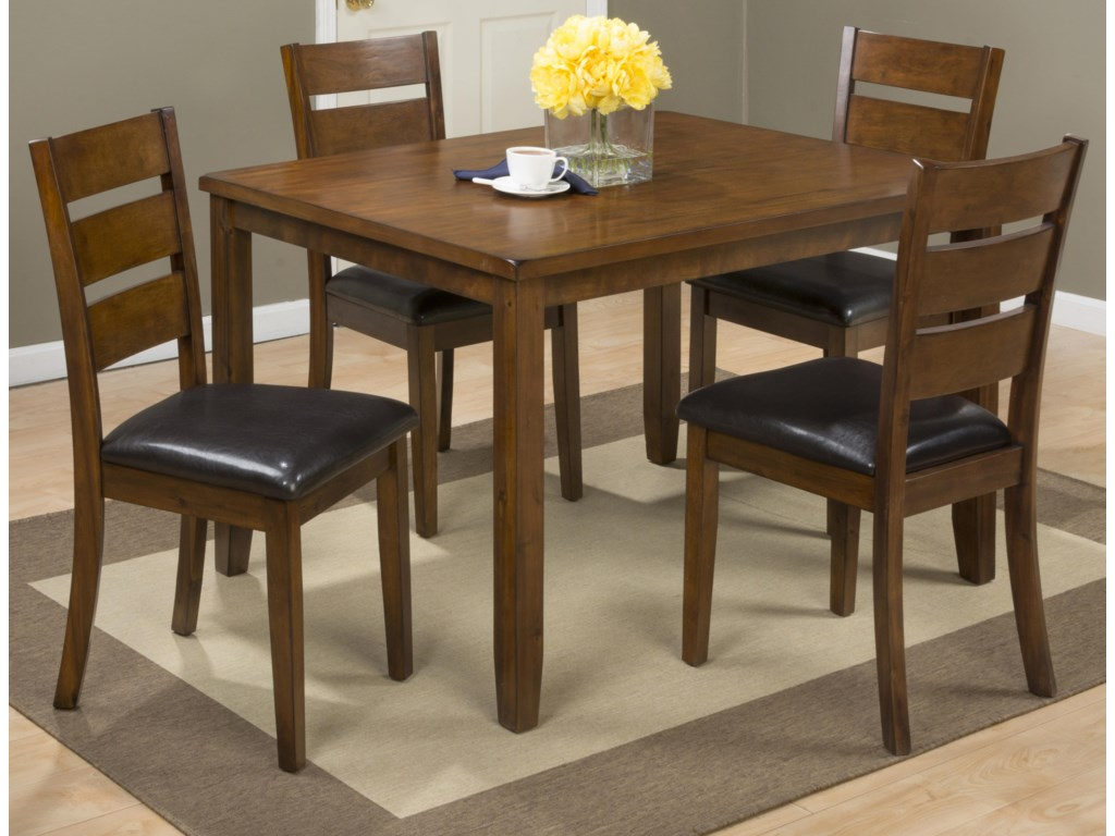 jofran plantation 5 pack table with 4 chairs old brick furniture dining 5 piece set - Old Brick Dining Room Sets