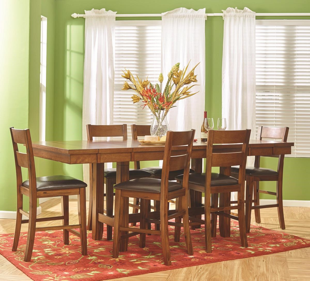 Plantation 5 Piece Pub Height Dining Set