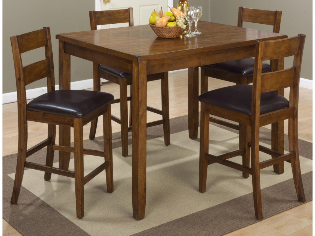 Jofran PlantationPlantation Counter Height Table and 4 Stools