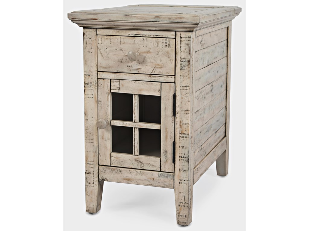 Jofran Rustic ShoresPower Chairside Table
