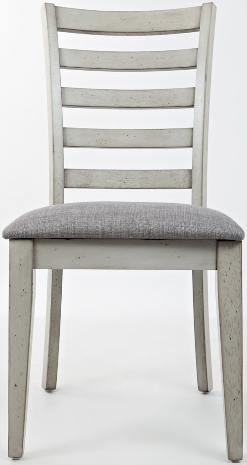 Jofran Sarasota Springs Ladder Back Dining Chair with Upholstered Seat