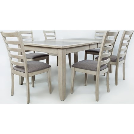 Tiled Extension Dining Table and Chair Set