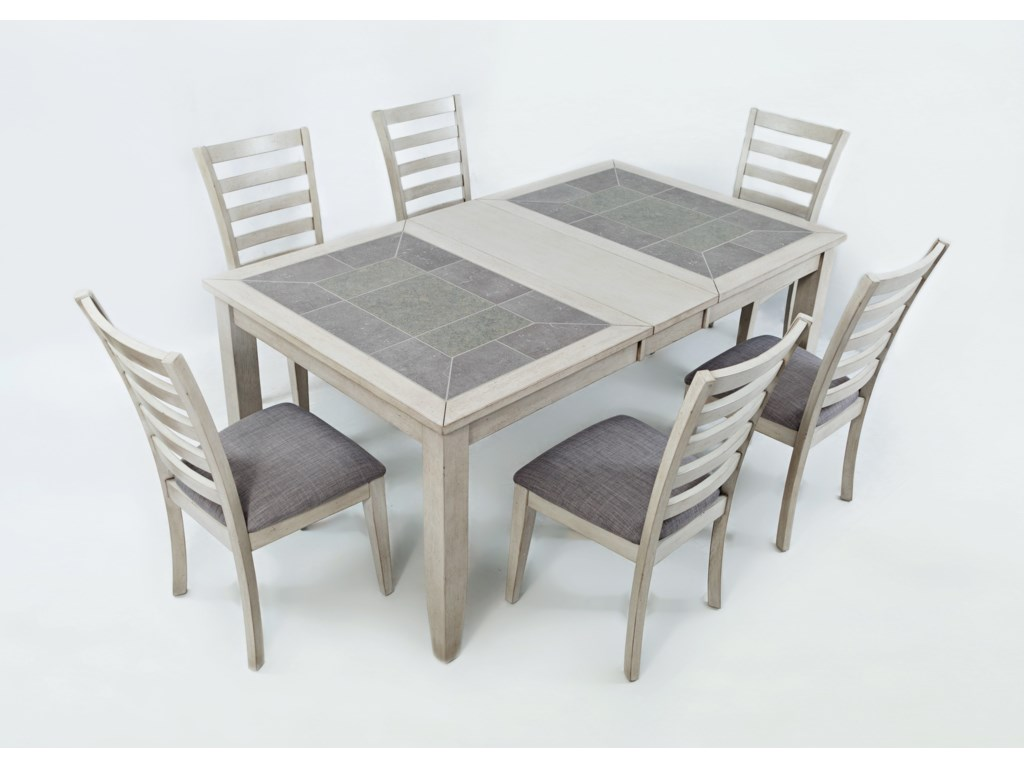 Jofran Sarasota SpringsTiled Extension Dining Table and Chair Set