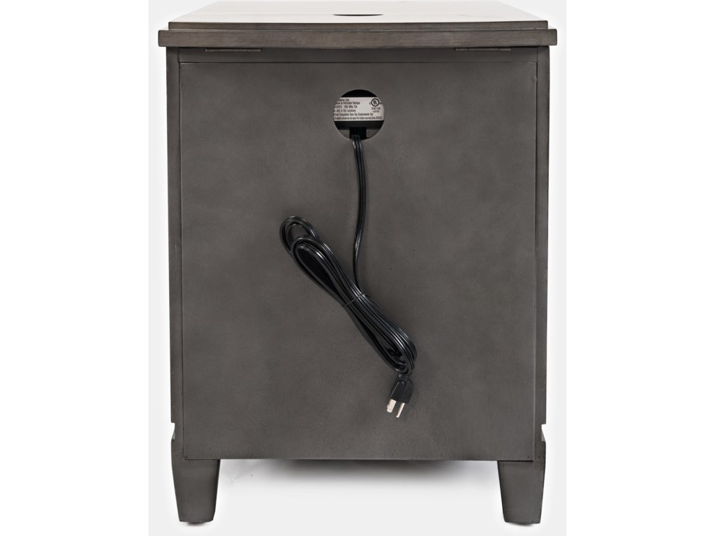 Jofran ScarsdalePower Chairside Table