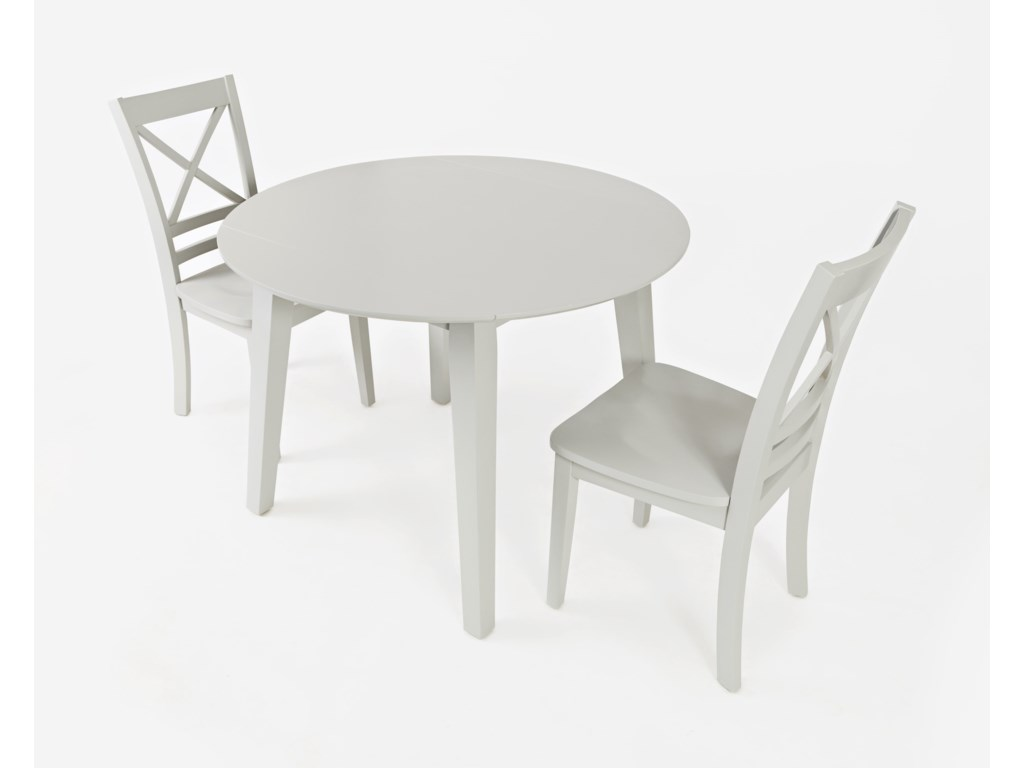 Jofran SimplicityRound Drop Leaf Table and Chair Set