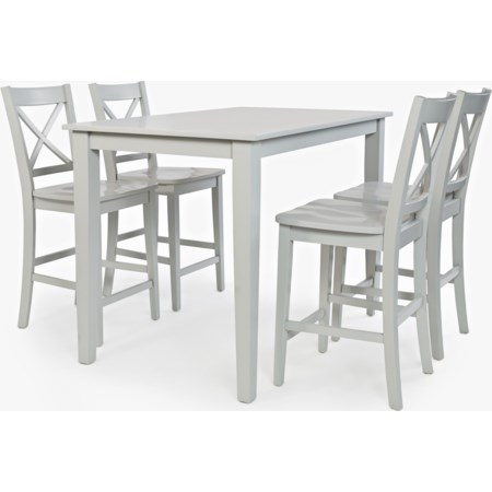 Rectangle Counter-Height Table and Chair Set