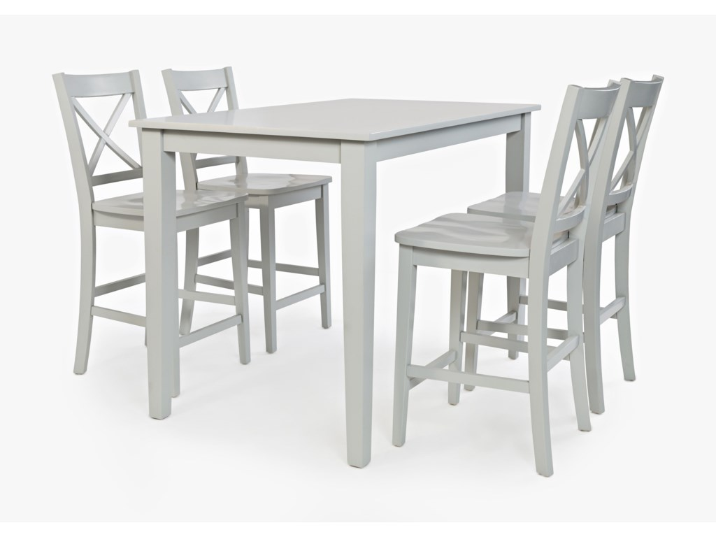 Jofran SimplicityRectangle Counter-Height Table and Chair Set