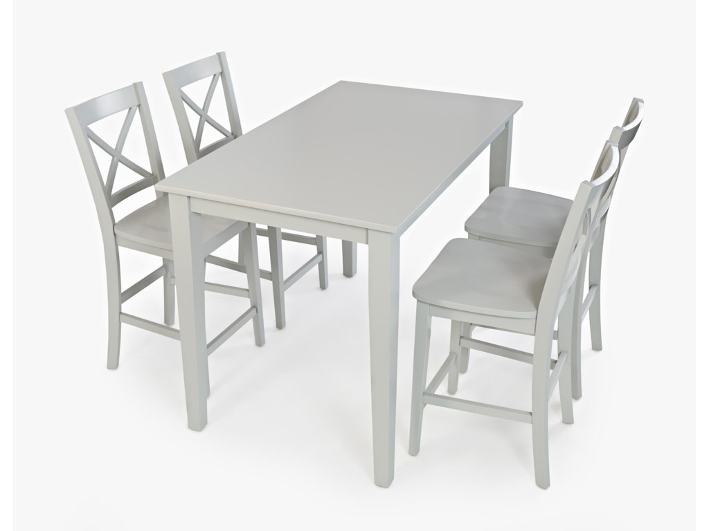 Simplicity Rectangle Counter-Height Table and Chair Set by Jofran at Red  Knot