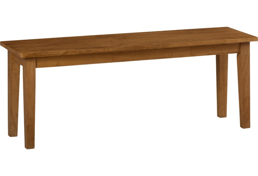 Simplicity Wooden Dining Room Table Bench by Jofran at Dunk & Bright  Furniture