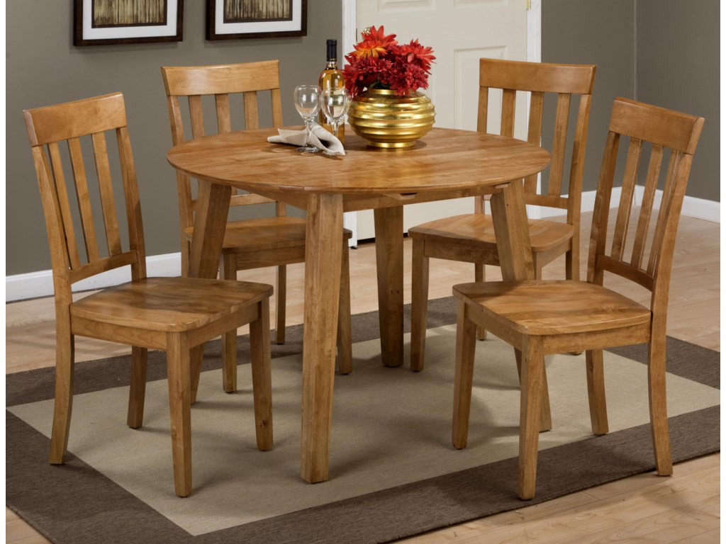 Jofran SimplicityRound Table and 4 Chair Set