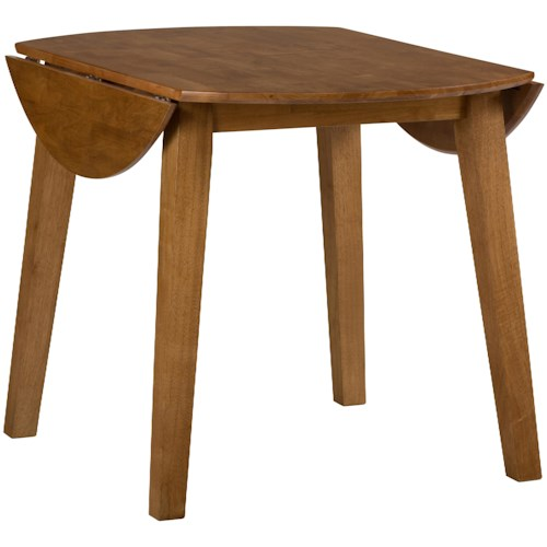 Jofran Simplicity Round Drop Leaf Table that Seats 4 for Dining Areas