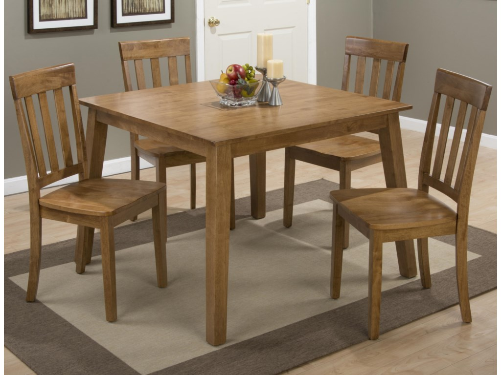 Jofran SimplicitySquare Table and 4 Chair Set