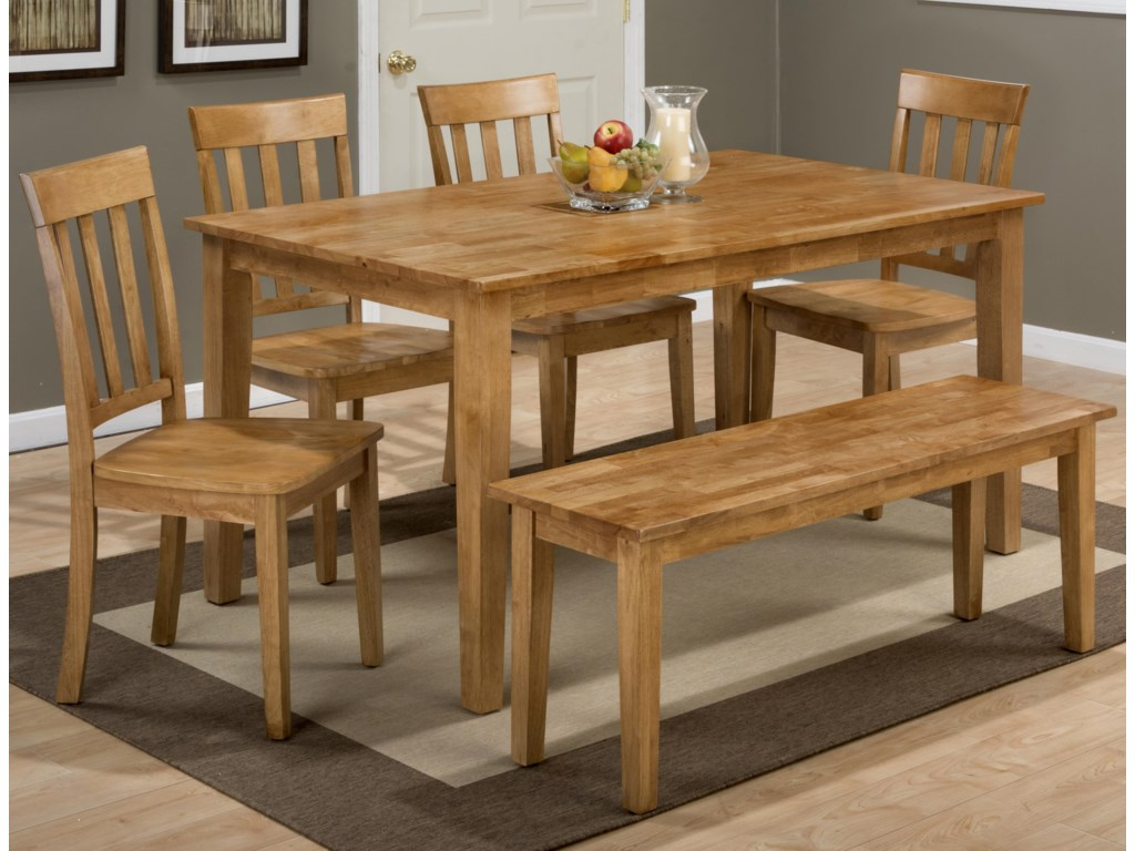 Simplicity Rectangle Dining Table and (\