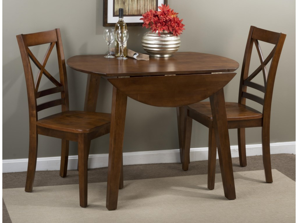 Jofran Simplicity Round Table and 9 Chair Set with