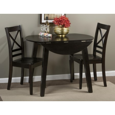 Round Table and 2 Chair Set