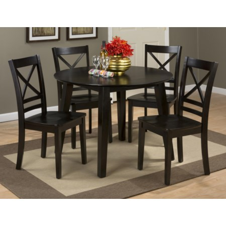 Round Table and 4 Chair Set