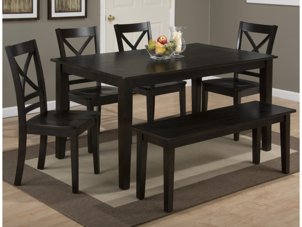 Jofran Simplicity Rectangle Dining Table and (\