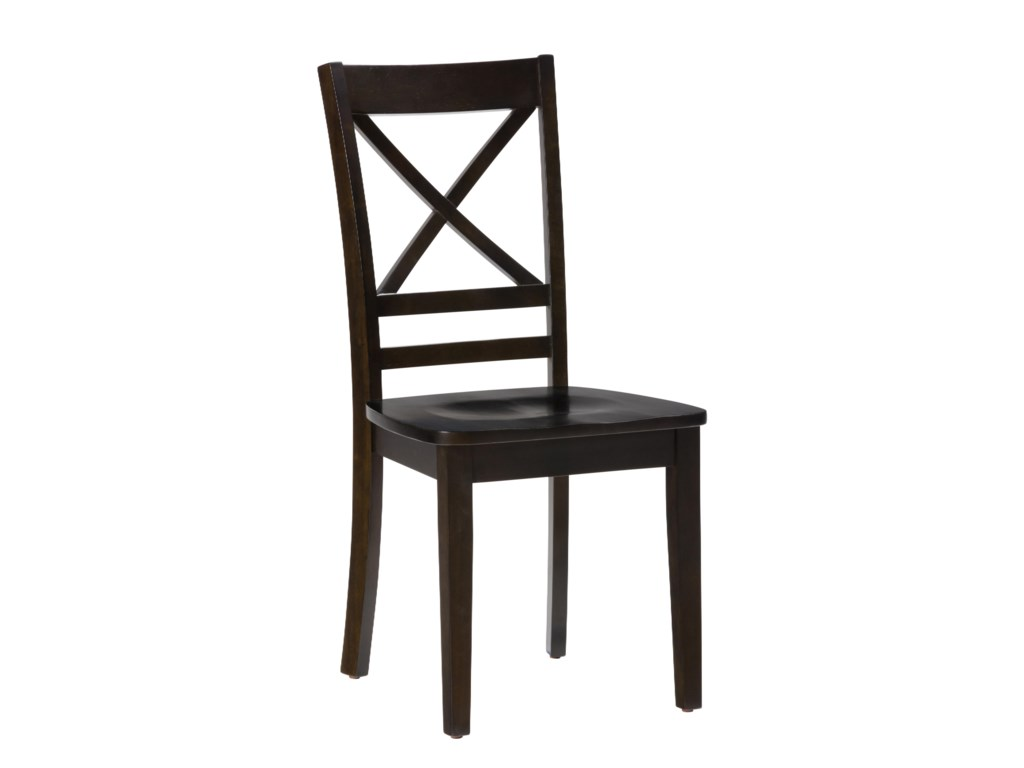 "Jofran 3x3x3 - Espresso""X"" Back Side Chair"