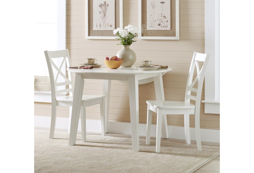 Simplicity Round Table and 2 Chair Set (with \