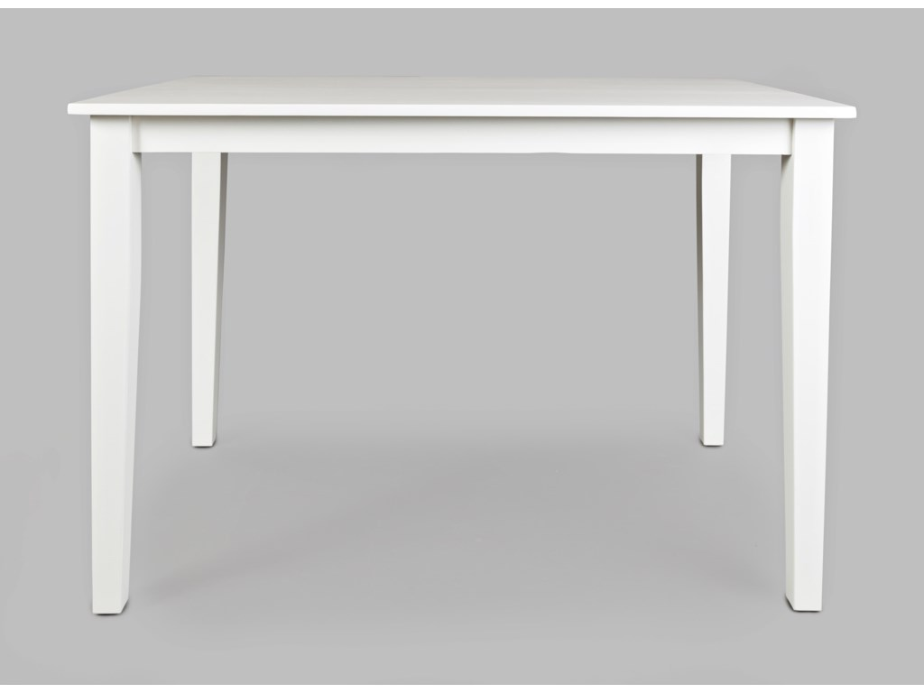 Jofran 3x3x3 White Counter Height Dining Table Rotmans Kitchen