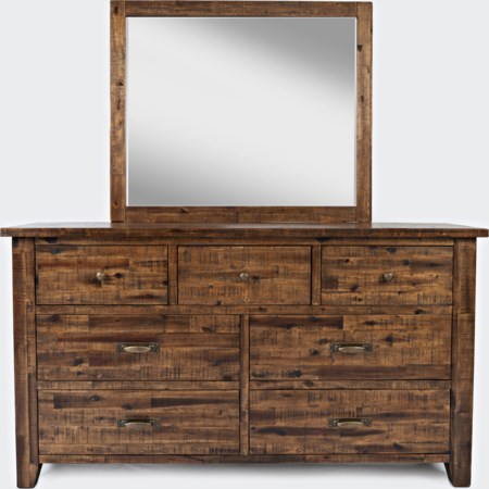Master Dresser and Mirror Set
