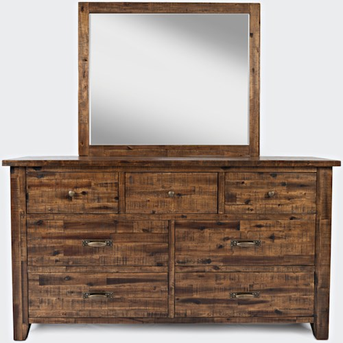 Jofran Sonoma Creek Master Dresser And Mirror Set Lindy's Amazing Master Design Furniture Company