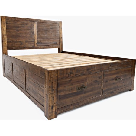 Queen Size Storage Bed