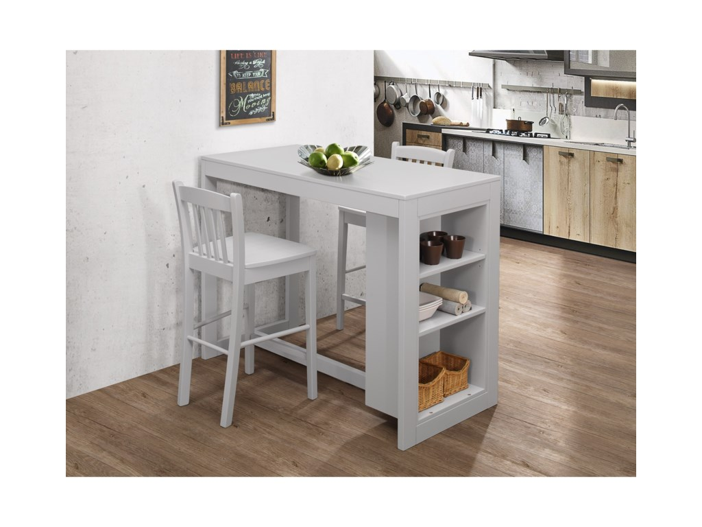 Jofran Tribeca Counter Height Table With 2 Chairs Adcock Furniture