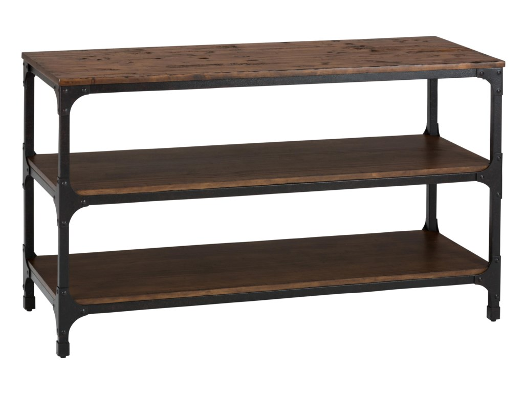 Jofran Urban Nature Sofa Table With Steel And Pine Construction