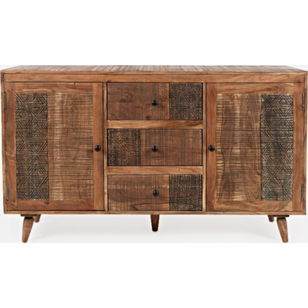 3-Drawer and 2-Door Accent Chest