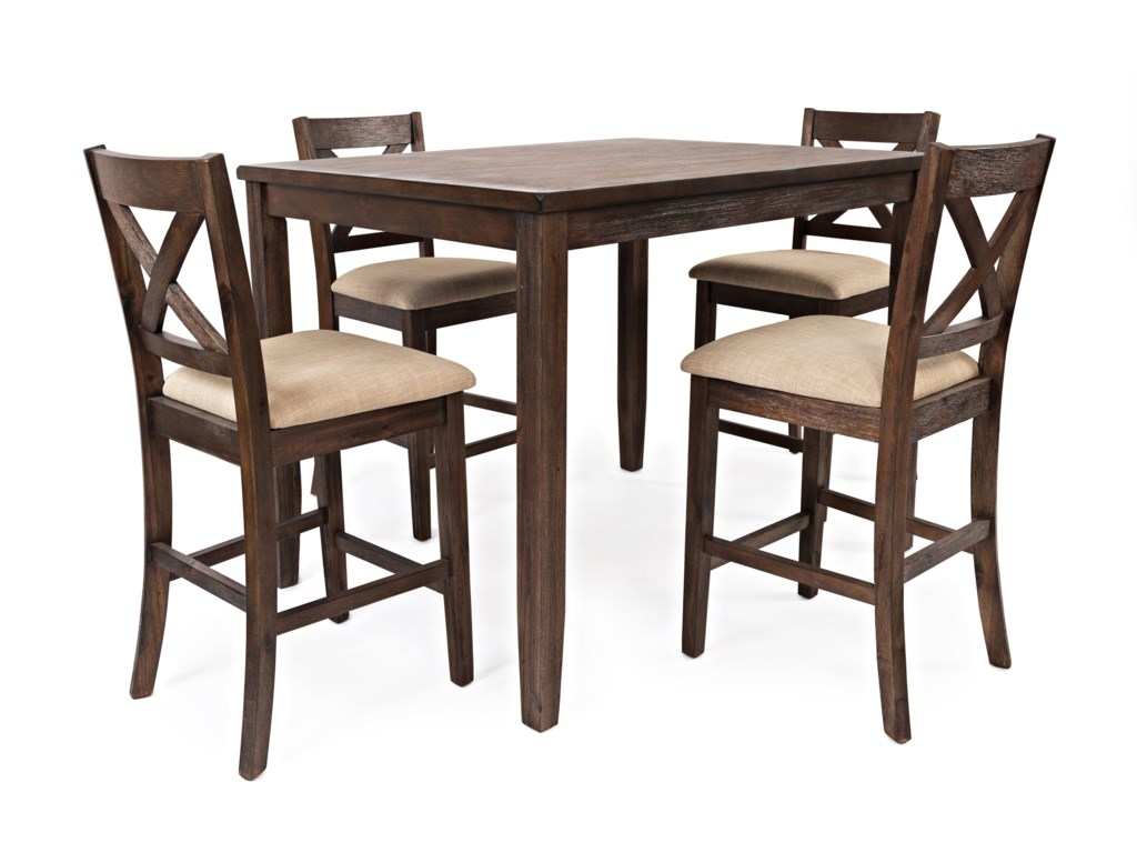 Jofran Walnut Creek5 Pack Counter Height Dining Set